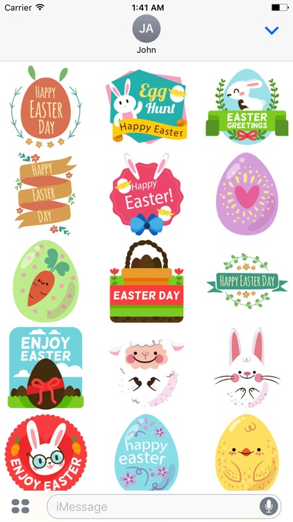 Happy Easter Sticker for iMessage