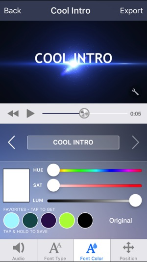 Intro designer lite create intros for imovie on the app store screenshots maxwellsz