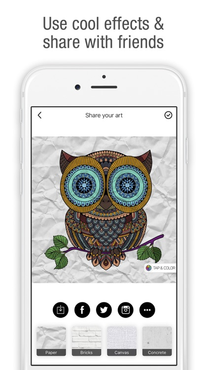 Tap & Color - Coloring book for adults & kids screenshot-4