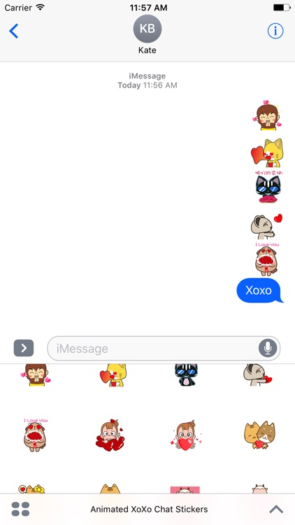 Animated XoXo Chat Stickers For iMessage screenshot-3