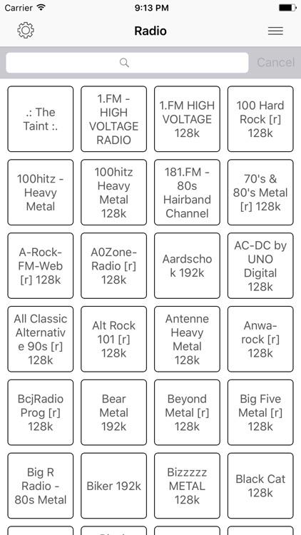 Radio FM Metal online Stations