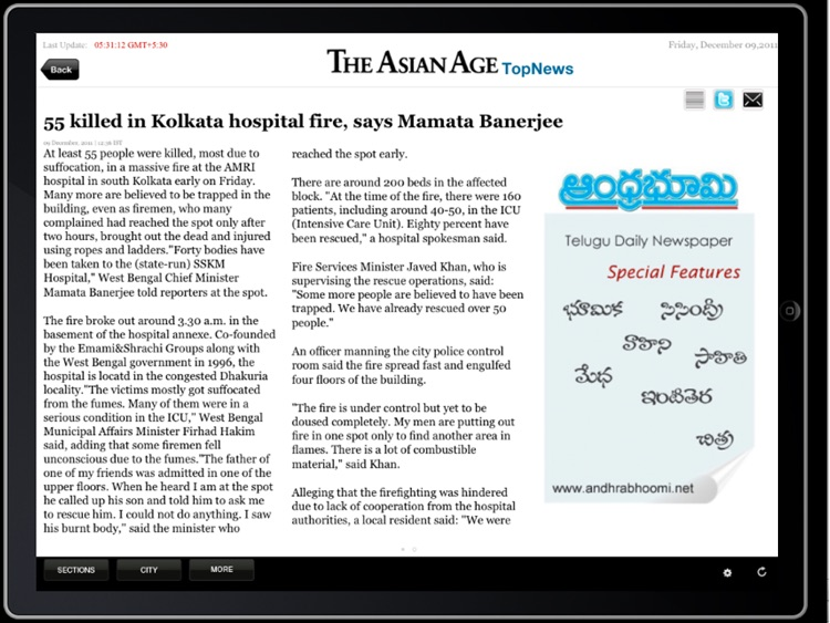 The Asian Age for iPad