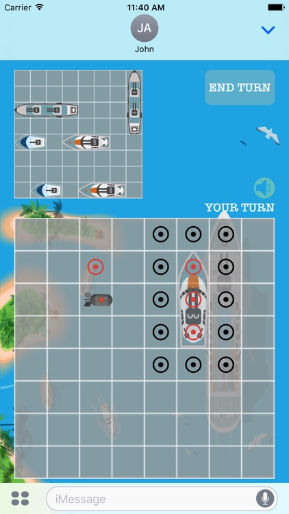 Sea War: Battleship with friends in iMessage
