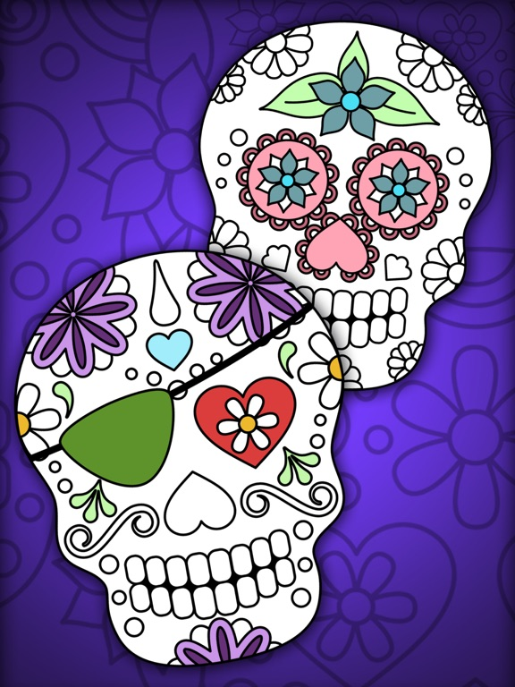 Mexican pattern. Adult coloring page with flowers, skeleton, horse ... | 768x576