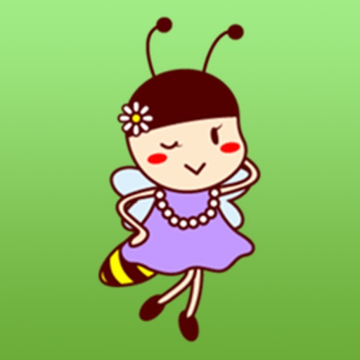 Adorable Bee Girl Sticker