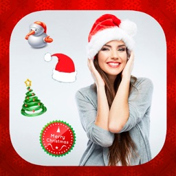 Christmas stickers - your photo on Christmas