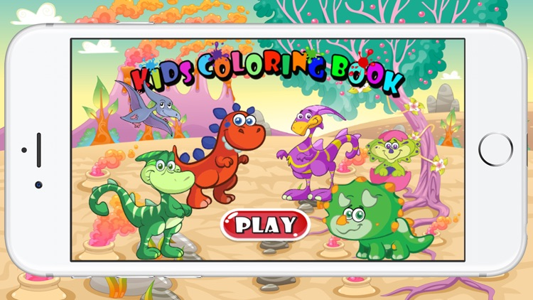 Dinosaur Coloring Page For Kids Game