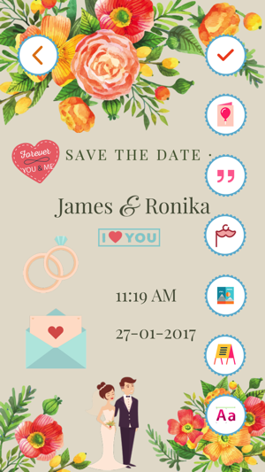 Wedding invitation card maker pro on the app store screenshots iphone ipad stopboris Image collections
