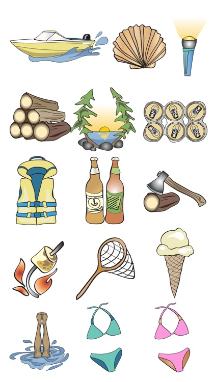 Cottage & Vacation Stickers