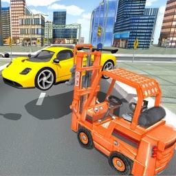 Real Car Traffic Forklift Simulator 3D