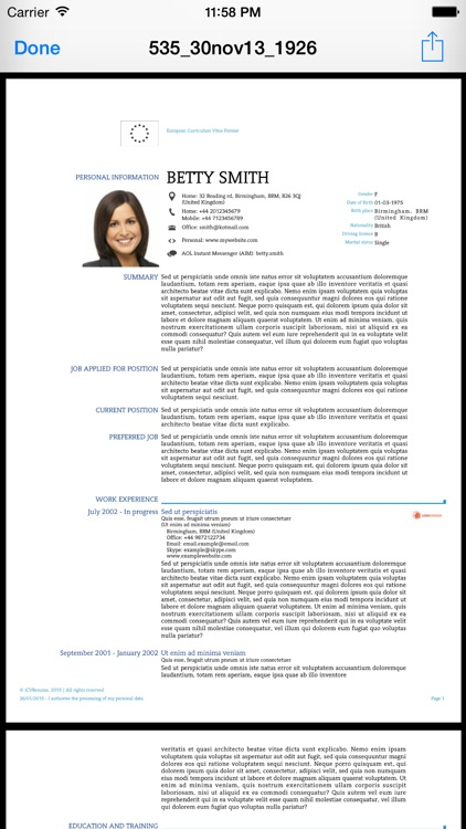 iCV Resume screenshot-1