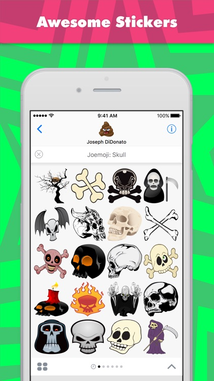 Joemoji: Skull stickers by Joemoji