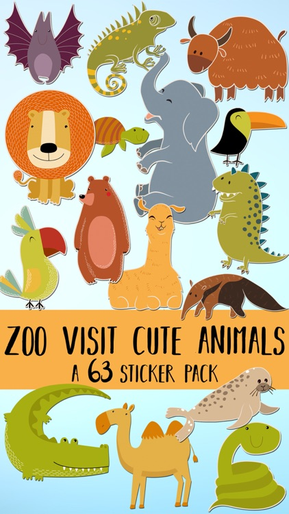 Zoo Visit Cute Animals Sticker Pack