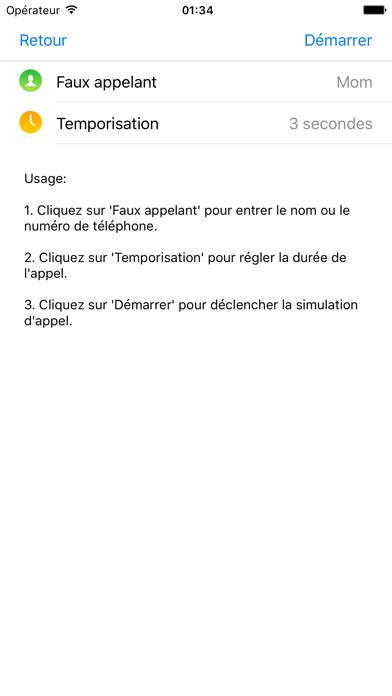FakeCall - simuler l'appel téléphonique du système