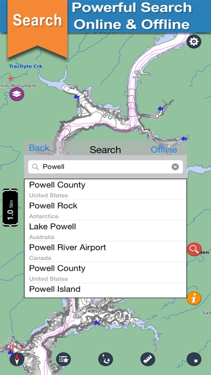 Powell - Glen Canyon N offline lake & park trails screenshot-3