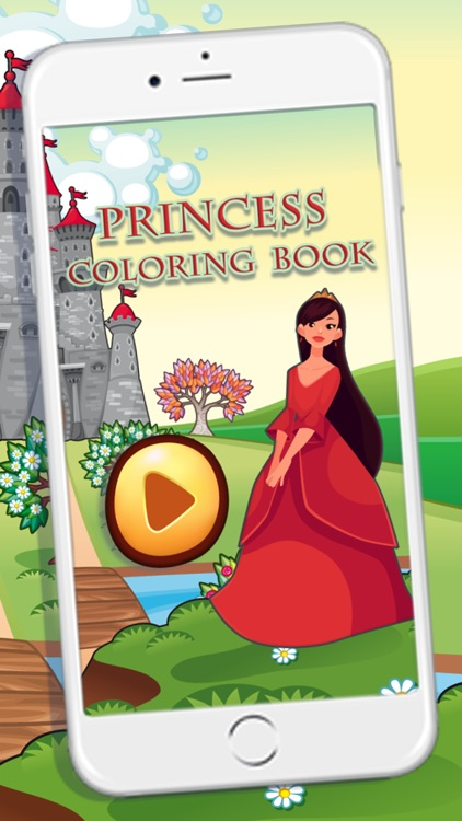Beautiful Princess Coloring Book