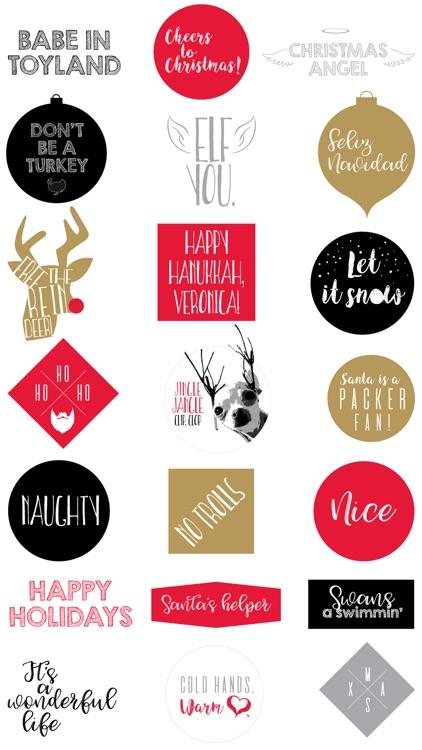 Vendi Holiday Stickers