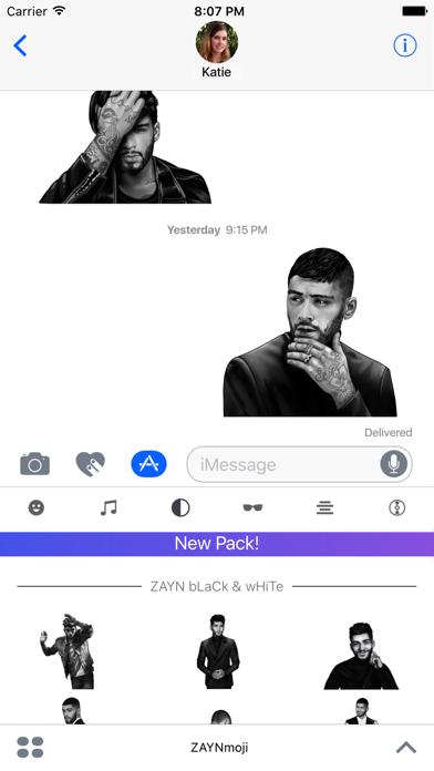 Screenshot for ZAYNmoji in United States App Store