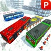 Winter Bus Driver 3D Simulator: Snow Hill Parking