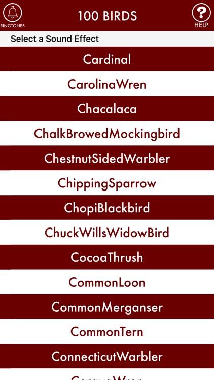 100BIRDS + RINGTONES Bird Calls Tweets Sounds