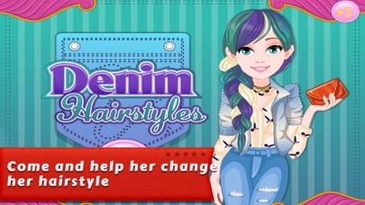 Dressup Games:Denim Hairstyles screenshot one