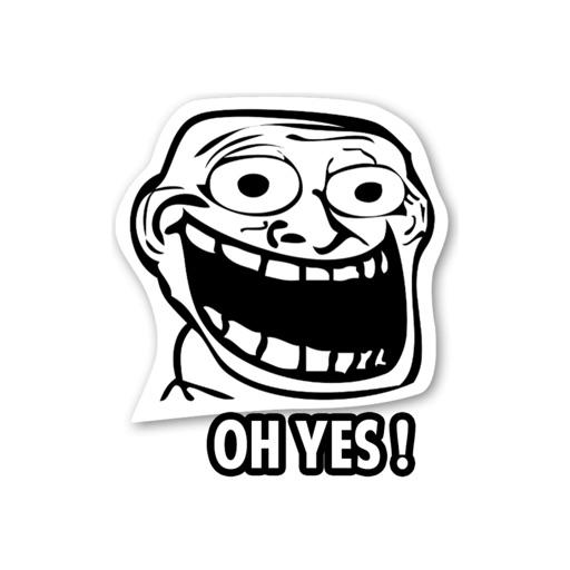 troll meme stickers by nestedapps stickers by mojilala