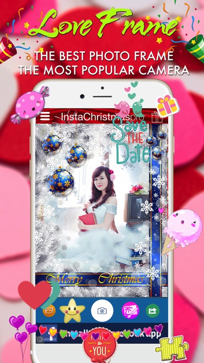 Insta Christmas Photo Frame - Wonder Photo