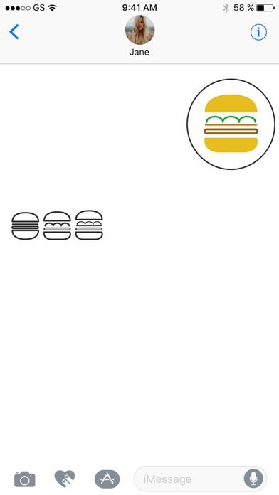 漢堡兩個貼紙包屏幕截圖2