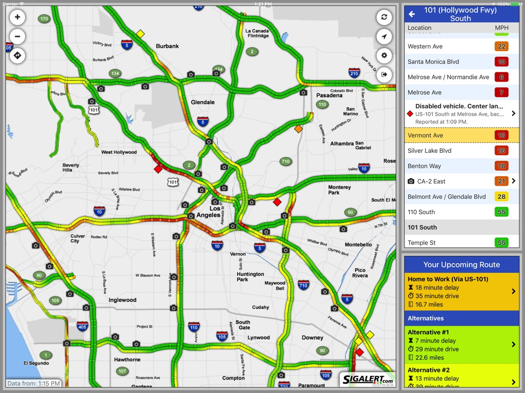 Sigalert.com - Live traffic reports - Online Game and ... on la freeway map, la traffic sigalert, western connecticut state university campus map,