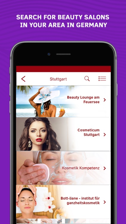 Beauty Guide: Beauty Salons in Germany by Gadget Software