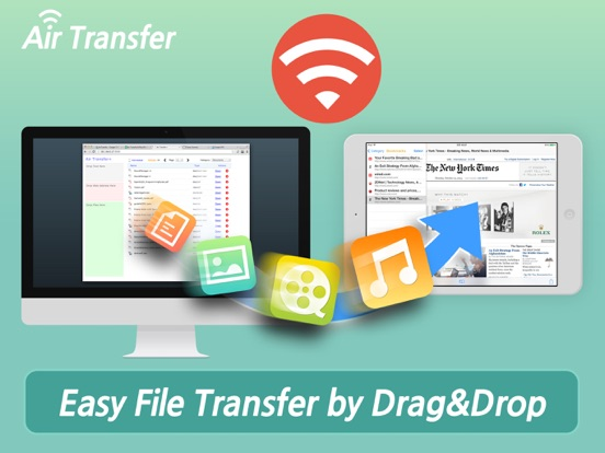 Air Transfer - File Transfer from/to PC thru WiFi iPad