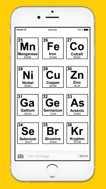 Periodic Table of Elements Black & White Stickers screenshot-4