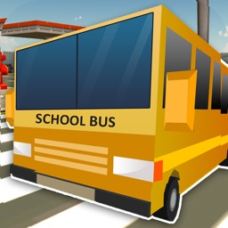 Blocky School Bus Simulator 3D