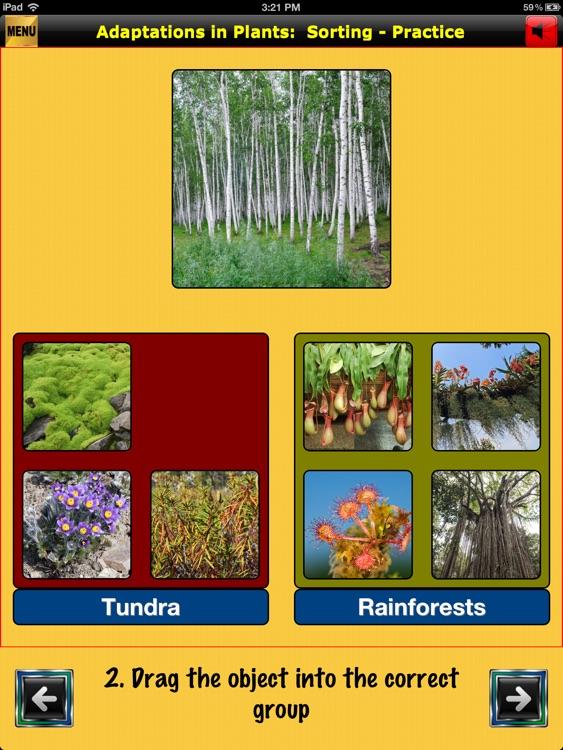 easyLearn Adaptations in Plants | Life Science HD screenshot-3