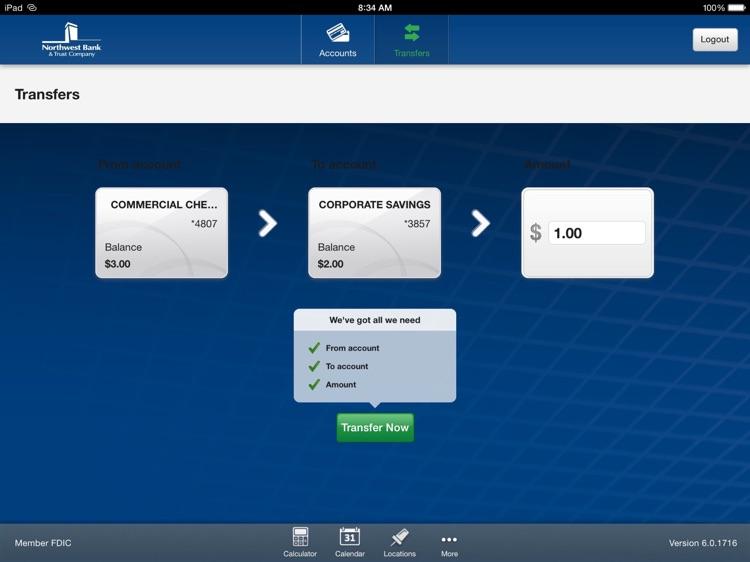 Northwest Mobile Bank for iPad screenshot-3
