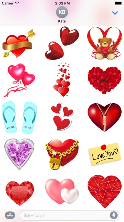 Hearts & Roses to Love Stickers for iMessage