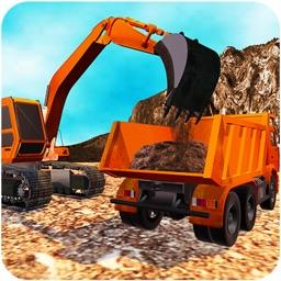3D Hill Rock Mining Truck Driver Simulator