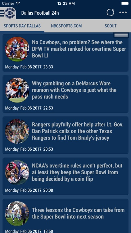 24h News for Dallas Cowboys