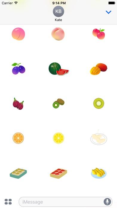 Nette Frucht AufkleberScreenshot von 4