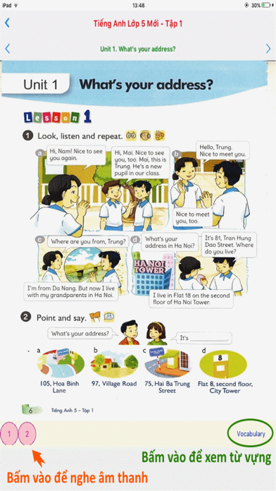 Tieng Anh 5 Moi - English 5 - Tap 1 screenshot 1
