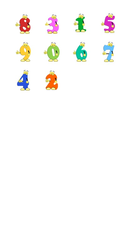 Basic Numbers Sticker Pack