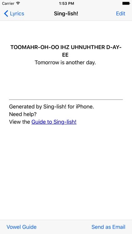 Sing-lish!