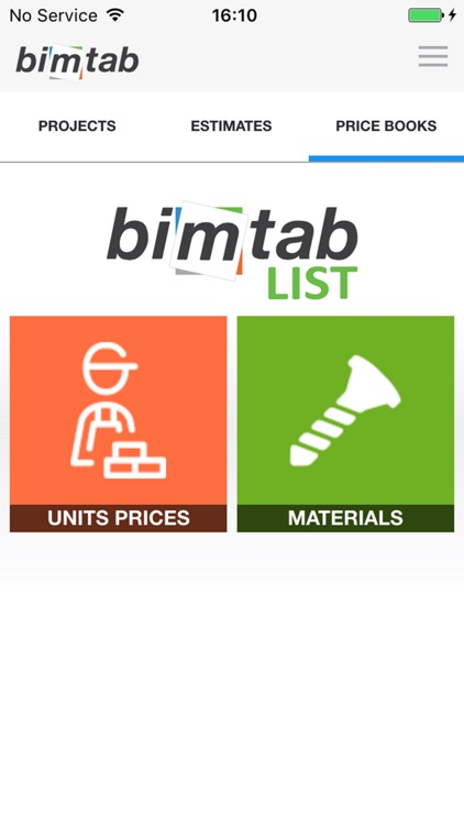 Construction Estimates on site Bimtab List