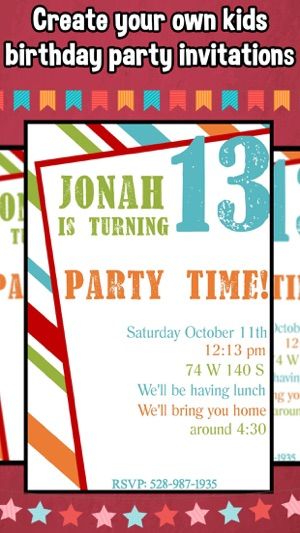 Happy Birthday Invitations For Kids Party 4