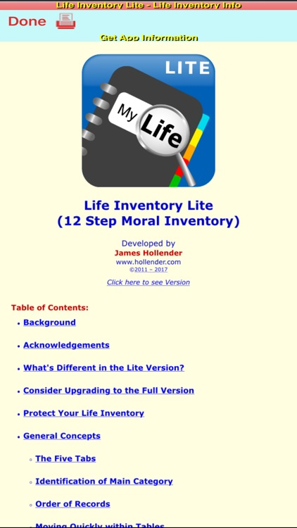 Life Inventory Lite with optional Mock data