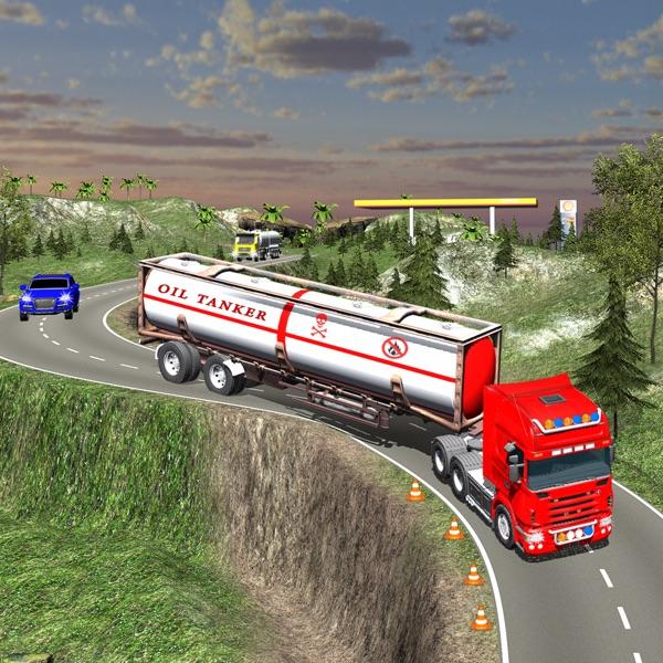Off Road Oil Transport - Truck trailer Driving 3D