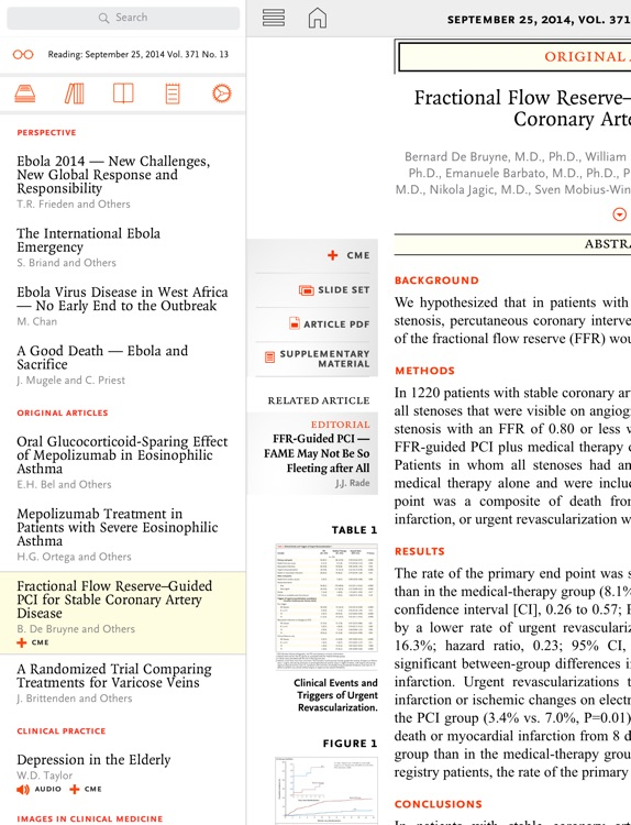 NEJM iPad Edition screenshot-3