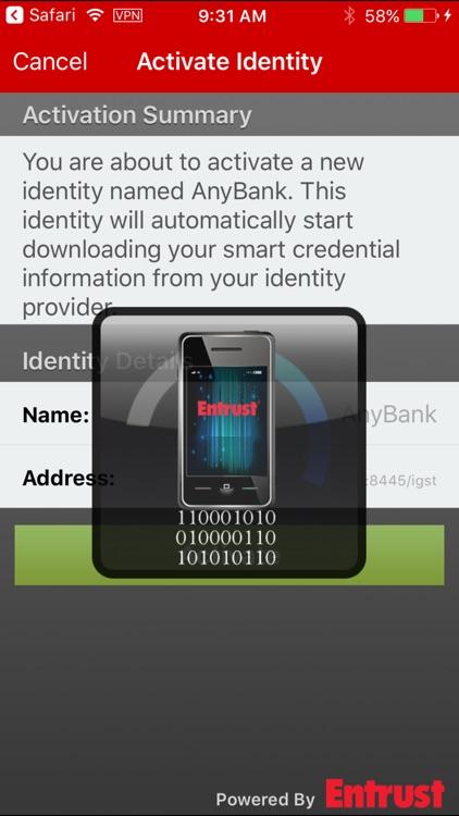Entrust IG Mobile Smart Cred screenshot-3