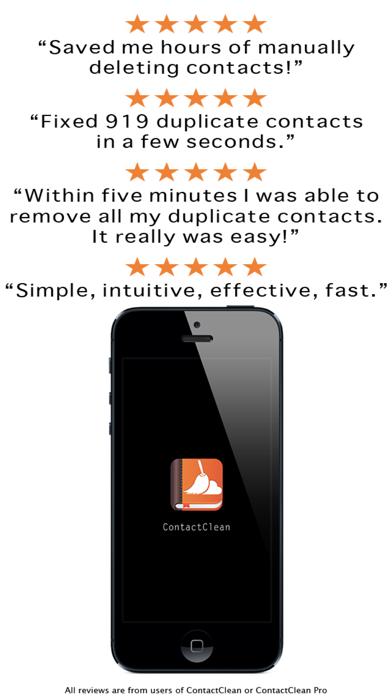 ContactClean - アドレス帳のクリーンアップと修復のスクリーンショット1