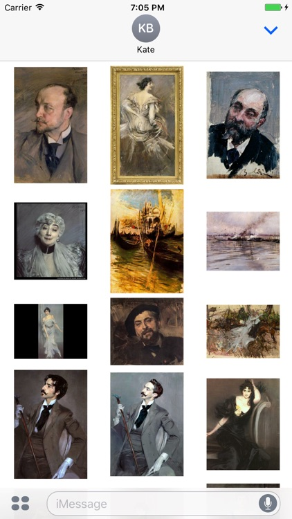 Giovanni Boldini Artworks Stickers screenshot-3